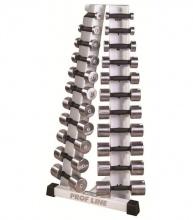 Prof Line ST-410 Стойка с набором хромированных гантелей от 0,5 до 10 кг