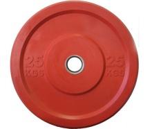 """Диск """"JOHNS"""" APOLO Bumper, d-51мм., цветной, цельно резиновый, 25 кг."""
