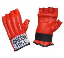 Перчатки снарядные ROYAL CMR-2076, шингарды, кожа, красные в ассортименте