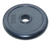 Диск JOHNS d51 мм, черн. обрезиненный, 10 кг