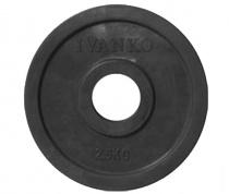 Диск 51 мм JOHNS обрезиненный черный, 2.5 кг