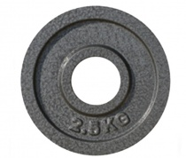 Диск для пауэрлифтинга JOHNS металлический, d51мм. 2,5кг., серый