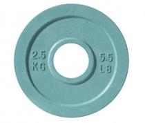 Блин 51 мм JOHNS обрезиненный, серо-синий, 2.5 кг
