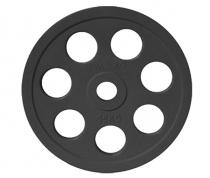 Диск JOHNS обрезиненный 15кг., d51мм., черный