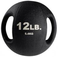 Тренировочный мяч с хватами 5,4 кг черный