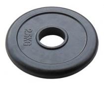 Олимпийский диск для штанги 51 мм JOHNS черн. обрезиненный, 2,5 кг