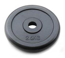 Диск 26 мм стальной, обрезиненный JOHNS, 2,5 кг