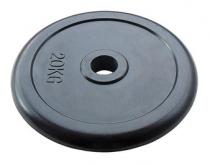 Диск JOHNS d51 мм черн. обрезиненный, 20 кг