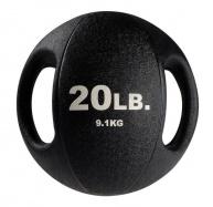 Тренировочный мяч с хватами 9,1 кг черный