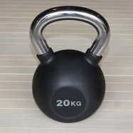 Гиря обрезиненная 24 кг с хромированной ручкой H-10924