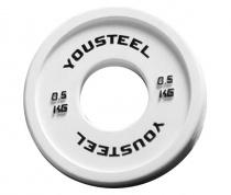 Диск тренировочный цветной 0,5 кг Yousteel