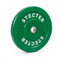 Каучуковый тренировочный диск 10 кг (зеленый)