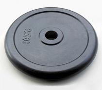 Диск JOHNS d51 мм черн. обрезиненный, 25 кг