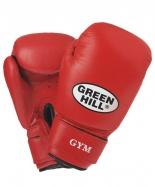 Перчатки боксерские GYM BGG-2018, 8oz, кожа, красные