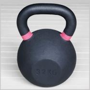Гиря чугунная 32 кг розовый кант H-10532