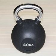 Гиря обрезиненная 40 кг с хромированной ручкой H-10940