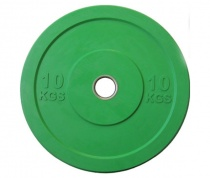 Бамперный блин для штанги «JOHNS» APOLO Bumper, d-51мм., цветной, цельно резиновый, 10 кг.