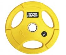 PANGOLIN WP074 - Диск олимпийский обрезиненный цветной, с 3-мя хватами, номинал веса 15 кг