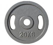 Диск для штанги JOHNS металлический, d51мм. 20 кг., серый