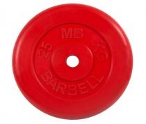 Диск обрезиненный, красного цвета 26 мм MB Barbell MB-PltC26-25