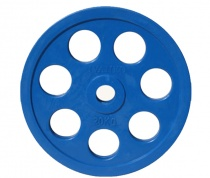 Диск JOHNS обрезиненный 20кг., d51мм., синий