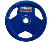 Обрезиненный диск с тройным хватом 51 мм 20 кг цветной J-915120C