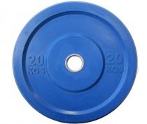 """Диск """"JOHNS"""" APOLO Bumper, d-51мм., цветной, цельно резиновый, 20 кг."""