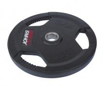 Обрезиненный диск с тройным хватом 51 мм 25 кг черный J-915125B