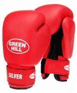 Перчатки боксерские Silver BGS-2039, 8oz, к/з, красный