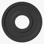 Олимпийский диск под штангу JOHNS обрезиненный 1,25кг., d51мм., черный