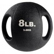 Тренировочный мяч с хватами 3,6 кг черный