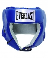 Шлем открытый USA Boxing 610406U, L, кожа, синий