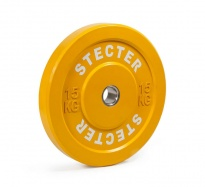 Каучуковый тренировочный диск 15 кг (желтый)