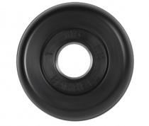 Диск для штанги обрезиненный 26 мм 1 кг черный MB Barbell MB-PltB26-1