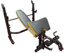 Наклонная силовая скамья для жима со стойками DFC D-730