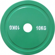 Диск для пауэрлифтинга стальной 10 кг зеленый IPF стандарт