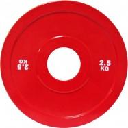 Диск для пауэрлифтинга стальной 2,5 кг красный IPF стандарт
