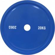 Диск для пауэрлифтинга стальной 20 кг синий IPF стандарт