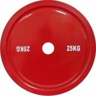 Диск стальной 25 кг красный для пауэрлифтинга