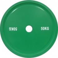 Диск для пауэрлифтинга стальной 50 кг зеленый IPF стандарт