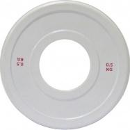 Диск для пауэрлифтинга стальной 0,5 кг белый IPF стандарт