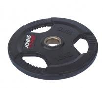 Обрезиненный диск с тройным хватом 51 мм 10 кг черный J-915110B