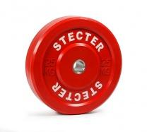 Каучуковый тренировочный диск 25 кг (красный)