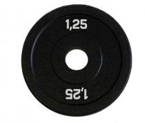 Диск бамперный для штанги 1,25 кг (черный)