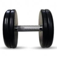 """Гантель черная """"Классик"""" 21 кг MB Barbell MB-FdbEM-B21"""