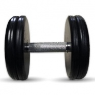 """Гантель черная """"Классик"""" 22 кг MB Barbell МВ-FdbEM-B22"""