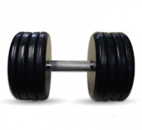 """Гантель черная """"Классик"""" 43 кг МВ Barbell MB-FdbEM-B43"""