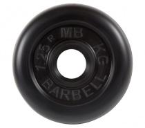 Диск обрезиненный 26 мм 1,25 кг черный MB Barbell MB-PltB26-1,25