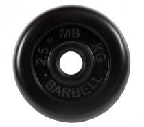Диск обрезиненный 31 мм 2,5 кг черный MB Barbell MB-PltB31-2,5