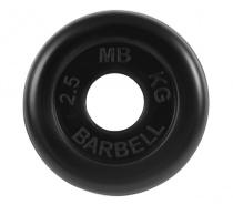 Диск обрезиненный для штанги 50 мм 2,5 кг MB BARBELL MB-PLTB50-2,5